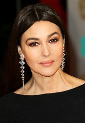© London News Pictures. Monica Belluci, EE British Academy Film Awards (BAFTAs), Royal Opera House Covent Garden, London UK, 08 February 2015, Photo by Richard Goldschmidt /LNP