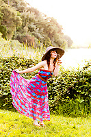 Spring fashion photoshoot at Lake Temescal. Styled by The Rare Bird.