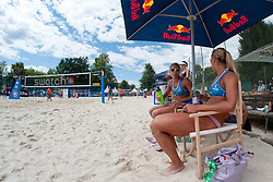 Erika and Simona Fabjan of Slovenia at A1 Beach Volleyball Grand Slam tournament of Swatch FIVB World Tour 2010, on July 28, 2010 in Klagenfurt, Austria. (Photo by Matic Klansek Velej / Sportida)