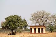 The pit latrines at Tonga Junior High School, Ghana.