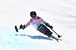 KURKA Andrew LW12-1 USA competing in ParaSkiAlpin, Para Alpine Skiing, Super G at PyeongChang2018 Winter Paralympic Games, South Korea.