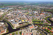 Nederland, Drenthe, Coevorden, 01-05-2013; oostelijk deel van de stad met Haven en Arsenaal.<br /> Coevorden, provincial city near German border (East Holland).<br /> luchtfoto (toeslag op standard tarieven);<br /> aerial photo (additional fee required);<br /> copyright foto/photo Siebe Swart