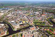 Nederland, Drenthe, Coevorden, 01-05-2013; oostelijk deel van de stad met Haven en Arsenaal.<br /> Coevorden, provincial city near German border (East Holland).<br /> luchtfoto (toeslag op standard tarieven);<br /> aerial photo (additional fee required);<br /> copyright foto/photo Siebe Swart