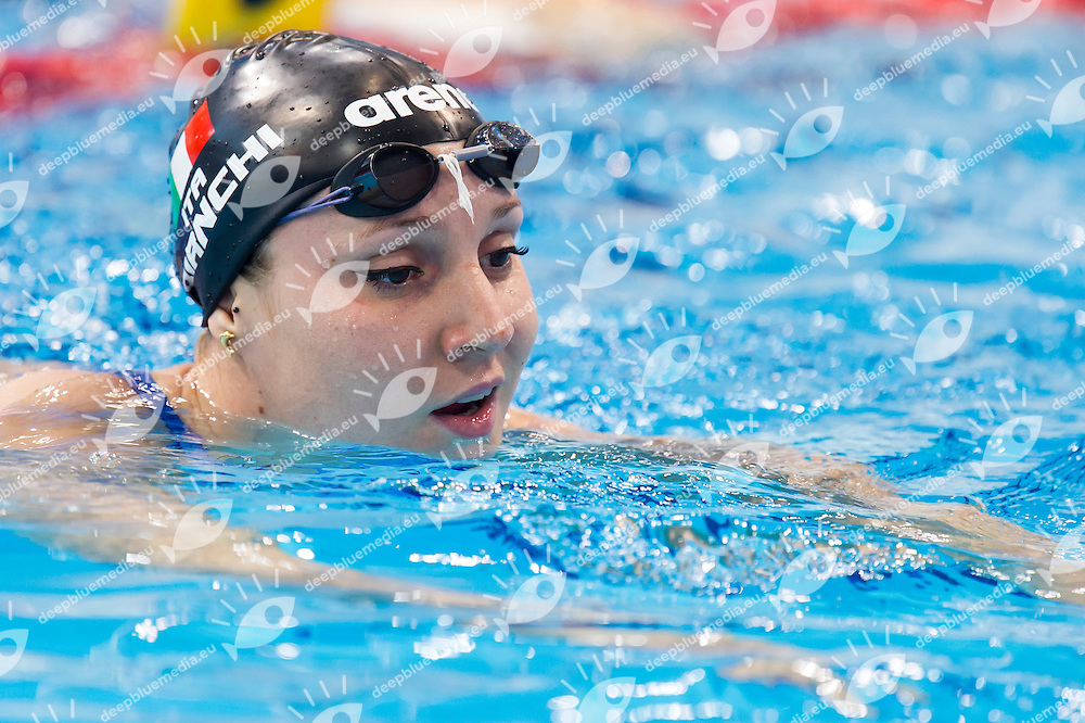 BIANCHI Ilaria ITA bronze medal<br /> London, Queen Elizabeth II Olympic Park Pool <br /> LEN 2016 European Aquatics Elite Championships <br /> Swimming<br /> Women's 100m butterfly final<br /> Day 12 20-05-2016<br /> Photo Giorgio Perottino/Deepbluemedia/Insidefoto