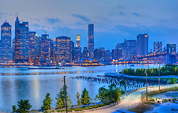 Lower Manhattan and Brooklyn Bridge Park, Brooklyn