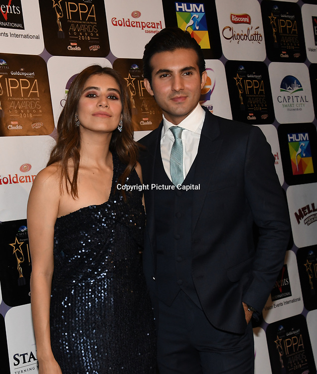 Shehroz Sabzwari,Syra Sabzwari arrives at the Annual International Pakistan Prestige Awards (IPPA) at Indigo at The O2 on 9th September 2018, London, UK.