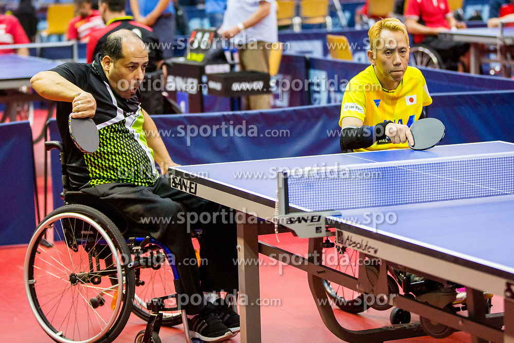 (Team JPN) YOSHIDA Shinichi and TAMAM Mamdouh in action during 15th Slovenia Open - Thermana Lasko 2018 Table Tennis for the Disabled, on May 10, 2018 in Dvorana Tri Lilije, Lasko, Slovenia. Photo by Ziga Zupan / Sportida