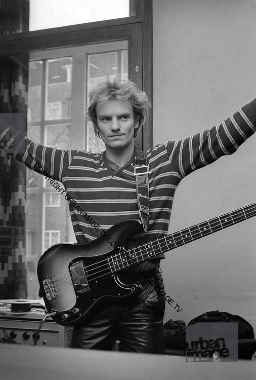 Sting backstage at soundcheck - The Police - London 1979