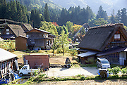 Historic Villages of Shirakawa-go and Gokayama UNESCO site in Japan Thatched roof house