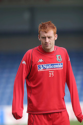 CARDIFF, WALES - EASTER MONDAY, MARCH 28th 2005: Wales' Collins during a training session at Ninian Park, Cardiff. (Pic by Tim Parfitt/Propaganda)