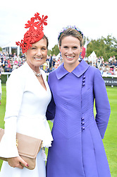 Left to right, Amanda Elliott Chairman of the Victoria Racing Club and Francesca Cumani at the Qatar Goodwood Festival, Goodwood, West Sussex England. 3 August 2017.<br /> Photo by Dominic O'Neill/SilverHub 0203 174 1069 sales@silverhubmedia.com
