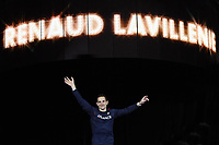 Renaud Lavillenie during the presentation of the pole vault men final during the IAAF World Indoor Championships at Oregon Convention Center, in Portland, USA, on March 17, 2016 - Photo Philippe Millereau / KMSP / DPPI