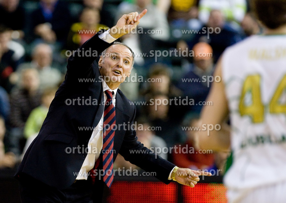 Head coach of Caja Laboral Baskonia Dusko Ivanovic at Group C of Euroleague basketball match between KK Union Olimpija, Slovenia and Caja Laboral, Spain, on November 5, 2009, in Arena Tivoli, Ljubljana, Slovenia.  (Photo by Vid Ponikvar / Sportida)