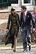 Zijne Hoogheid Prins Floris van Oranje Nassau, van Vollenhoven en mevrouw mr. A.L.A.M. Söhngen zijn zaterdag 22 oktober in de kerk van Naarden in het  huwelijk getreden. De prins is de jongste zoon van Prinses Magriet en Pieter van Vollenhoven.<br /> <br /> Church Wedding Prince Floris and Aimée Söhngen. <br /> <br /> Church Wedding Prince Floris and Aimée Söhngen in Naarden. The Prince is the youngest son of Princess Margriet, Queen Beatrix's sister, and Pieter van Vollenhoven. <br /> <br /> Op de foto / On the photo;<br /> <br /> <br /> <br /> Zijne Hoogheid Prins Maurits van Oranje-Nassau, van Vollenhoven en Hare Hoogheid Prinses Marilène van Oranje-Nassau, van Vollenhoven<br /> <br /> His highness prince Maurits van Oranje-Nassau, of Vollenhoven and her highness princess Marilène of Oranje-Nassau, of Vollenhoven
