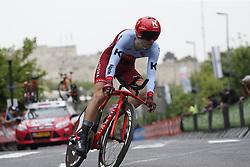 May 4, 2018 - Jerusalem, ISRAEL - Belgian Baptiste Planckaert of Katusha-Alpecin pictured in action during the first stage of the 101st edition of the Giro D'Italia cycling tour, an individual time trial (9,7km) in Jerusalem, Israel, Friday 04 May 2018...BELGA PHOTO YUZURU SUNADA FRANCE OUT (Credit Image: © Yuzuru Sunada/Belga via ZUMA Press)