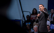ALEXANDRIA, VA - Feb 10: Presidential candidate Sen. Barack Obama, D-Ill., speaks at TC Williams High School in Alexandria, Va., Sunday, February, 2008 to a full exuberant crowd during a town hall meeting at the famed high school, who's story was made into a movie Remember the Titans.