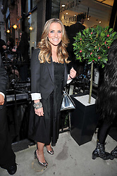 TV presenter GEORGIE THOMPSON at a party to launch the new Belvedere Black Raspberry Maceration held at the Belvedere Black Raspberry Pop-up Store, 100 Mount Street, London W1 on 6th May 2009.