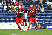 Queens Park Rangers midfielder Tjaronn Chery (8) wins the ball during the Sky Bet Championship match between Preston North End and Queens Park Rangers at Deepdale, Preston, England on 19 March 2016. Photo by Pete Burns.