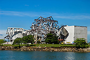 Vista de la Fachada del BioMuseo en construcción en la ciudad de Panama. El edificio Puente de Vida, que está siendo diseñado por Frank Gehry será un icono nuevo para Panamá. .Foto: Ramon Lepage / Istmophoto..