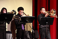 The Trombone Trio performs during the Fall Band Preview at Stivers School for the Arts in Dayton, Monday, November 19, 2012..