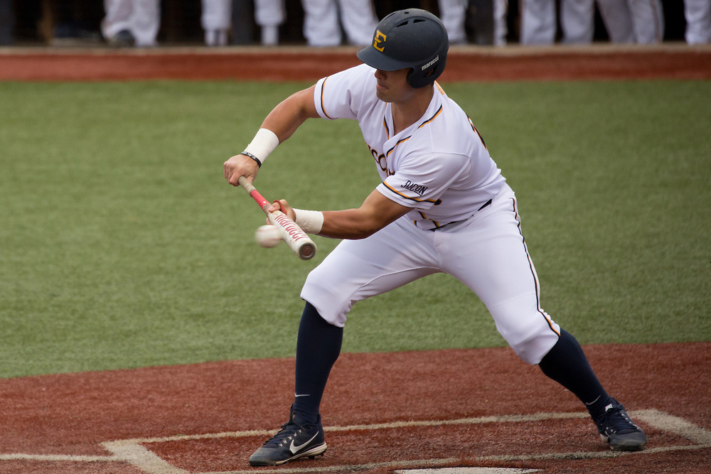 March 7, 2018 - Johnson City, Tennessee - Thomas Stadium: ETSU rightfielder Aaron Maher (27)<br /> <br /> Image Credit: Dakota Hamilton/ETSU