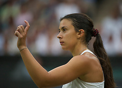 LONDON, ENGLAND - Tuesday, June 28, 2011: Marion Bartoli (FRA) in action during the Ladies' Singles Quarter-Final match on day eight of the Wimbledon Lawn Tennis Championships at the All England Lawn Tennis and Croquet Club. (Pic by David Rawcliffe/Propaganda)