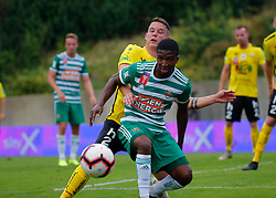21.07.2019, Sportplatz, Allerheiligen bei Wildon, AUT, OeFB Uniqa Cup, USV Allerheiligen vs SK Rapid Wien, 1. Runde, im Bild Kelvin Arase (SK Rapid Wien) und Bostjan Bizjak (SV Allerheiligen) // Kelvin Arase (SK Rapid Wien) and Bostjan Bizjak (SV Allerheiligen) during the ÖFB Uniqa Cup, 1st round match between USV Allerheiligen and SK Rapid Wien at the Sportplatz in Allerheiligen bei Wildon, Austria on 2019/07/21. EXPA Pictures © 2019, PhotoCredit: EXPA/ Erwin Scheriau
