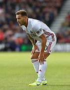 Billy Sharp (10) of Sheffield United during the Premier League match between Bournemouth and Sheffield United at the Vitality Stadium, Bournemouth, England on 10 August 2019.