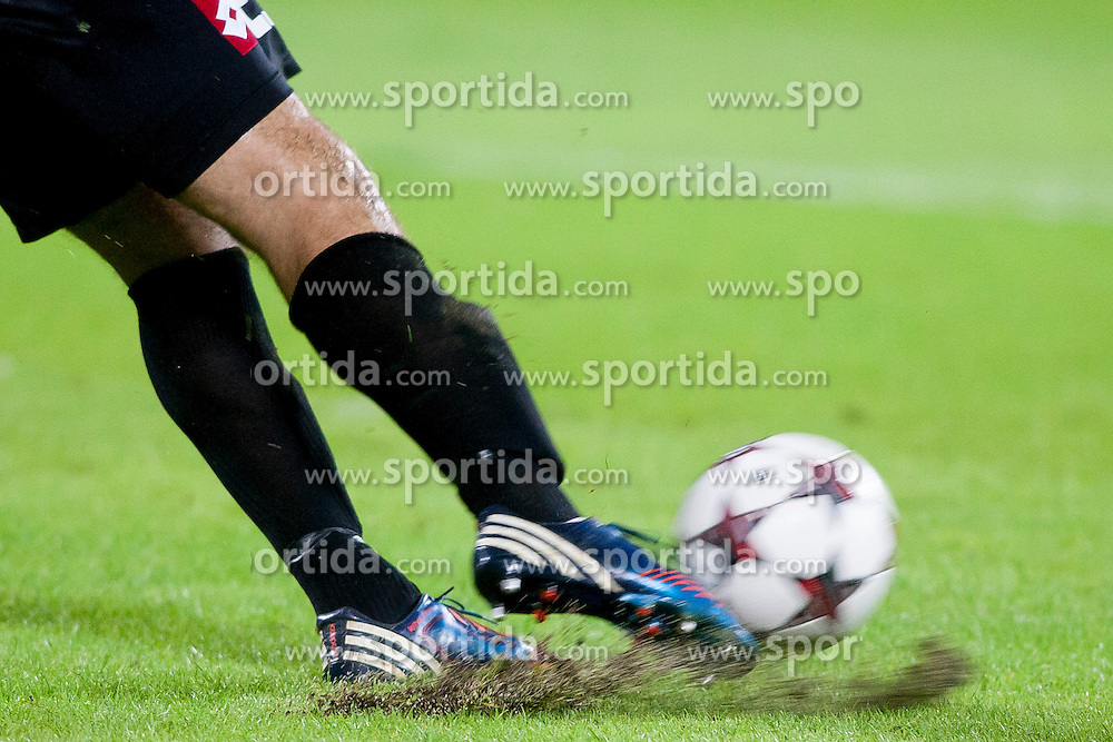Ball during football match between HNK Rijeka and HNK Hajduk Split in 11th Round of Prva Hrvaska Nogometna Liga MaxTV 2013/14 on September 28, 2013 in Stadion Kantrida, Rijeka, Croatia. (Photo By Urban Urbanc / Sportida.com)