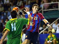 Håndball, 26. oktober 2002. Spanske eliteserie, Barcelona - Galdar 32-25. Glenn Solberg, Barcelona.