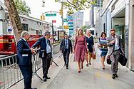 NEW YORK - Koningin Maxima buiten bij  het gebouw van de Verenigde Naties. Maxima is in New York in haar hoedanigheid van speciale pleitbezorger van de secretaris-generaal van de Verenigde Naties voor de jaarlijkse Algemene Vergadering van de Verenigde Naties. ANP ROBIN UTRECHT **NETHERLANDS ONLY**
