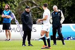 England Head Coach Eddie Jones looks over to Ben Youngs of England - Mandatory by-line: Robbie Stephenson/JMP - 08/03/2019 - RUGBY - England - Training session ahead of Guinness Six Nations match against Italy