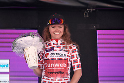 Susanne Andersen (NOR) wins the best Norwegian jersey  after Ladies Tour of Norway 2019 - Stage 4, a 154 km road race from Svinesund to Halden, Norway on August 25, 2019. Photo by Sean Robinson/velofocus.com