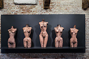 "Venezia - Punta della Dogana . La mostra di Damien Hirst: ""Tresaures from the Wreck of Unbelievable. ""Five grecian nudes."