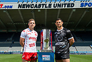 Picture by Allan McKenzie/SWpix.com - 14/05/2018 - Rugby League - Dacia Magic Weekend 2018 Preview - St James Park, Newcastle, England - Hull KR's Chris Atkin & Hull FC's Mark Minichiello.