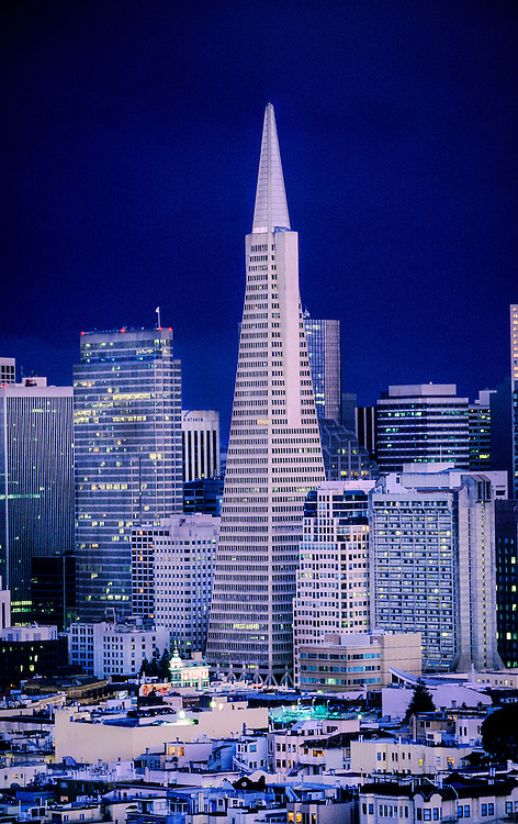 Transamerica Pyramid and the financial district, San Francisco, California USA