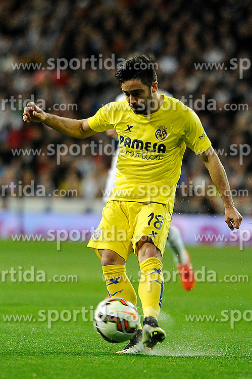 01.03.2015, Estadio Santiago Bernabeu, Madrid, ESP, Primera Division, Real Madrid vs FC Villarreal, 25. Runde, im Bild Villarreal CF&acute;s Jaume Costa // during the Spanish Primera Division 25th round match between Real Madrid CF and Villarreal at the Estadio Santiago Bernabeu in Madrid, Spain on 2015/03/01. EXPA Pictures &copy; 2015, PhotoCredit: EXPA/ Alterphotos/ Luis Fernandez<br /> <br /> *****ATTENTION - OUT of ESP, SUI*****