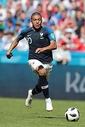 June 16, 2018 - Kazan, U.S. - KAZAN, RUSSIA - JUNE 16: forward Kylian Mbappe of France during a Group C 2018 FIFA World Cup soccer match between France and Australia on June 16, 2018, at the Kazan Arena in Kazan, Russia. (Photo by Anatoliy Medved/Icon Sportswire) (Credit Image: © Anatoliy Medved/Icon SMI via ZUMA Press)