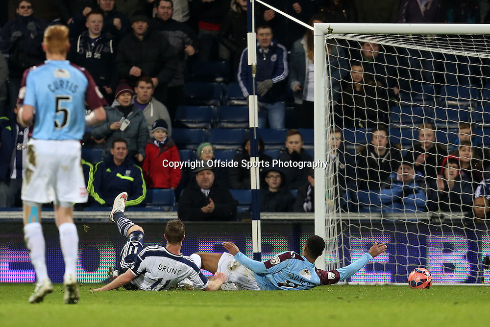 3rd January 2015 - FA Cup 3rd Round - West Bromwich Albion v Gateshead - Chris Brunt of West Bromwich Albion slides in to score (5-0) - Photo: Paul Roberts / Offside.