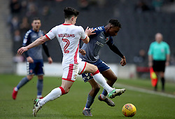 Charlton Athletic's Joe Aribo and MK Dons George Williams