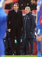 Football - 2016 / 2017 Premier League - Crystal Palace vs. Swansea City<br /> <br /> Swansea Caretaker Manager Alan Curtis with New Manager Paul Clement at Selhurst Park <br /> <br /> COLORSPORT/ANDREW COWIE