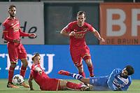 (L-R) *Jonas Svensson* of AZ Alkmaar, *Stijn Wuytens* of AZ Alkmaar, *Youness Mokhtar* of PEC Zwolle