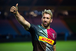 Chris Robshaw of Harlequins celebrates the win after the match - Mandatory byline: Patrick Khachfe/JMP - 07966 386802 - 01/12/2019 - RUGBY UNION - The Twickenham Stoop - London, England - Harlequins v Gloucester Rugby - Gallagher Premiership