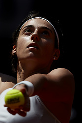 May 10, 2018 - Madrid, Madrid, Spain - Caroline Garcia of France serves in her match against Carla Suarez Navarro of Spain during day six of the Mutua Madrid Open tennis tournament at the Caja Magica on May 10, 2018 in Madrid, Spain  (Credit Image: © David Aliaga/NurPhoto via ZUMA Press)
