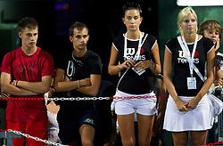 Spectators watch match Jelena Jankovic of Serbia vs Anastasija Jakimova at 2nd Round of Singles at Banka Koper Slovenia Open WTA Tour tennis tournament, on July 22, 2010 in Portoroz / Portorose, Slovenia. (Photo by Vid Ponikvar / Sportida)