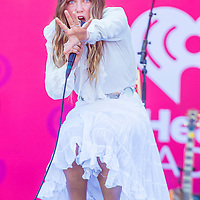 LAS VEGAS - SEP 19 : Singer Zella Day performs onstage at the 2015 iHeartRadio Music Festival at the Las Vegas Village on September 19, 2015 in Las Vegas, Nevada.