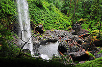 North Falls in Silver Falls State Park splashes down