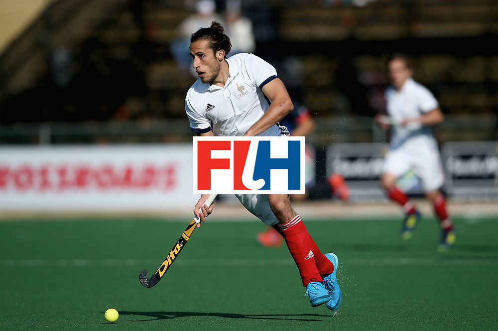 JOHANNESBURG, SOUTH AFRICA - JULY 13: Charles Masson of France in action  during day 3 of the FIH Hockey World League Semi Finals Pool A match between Japan and France at Wits University on July 13, 2017 in Johannesburg, South Africa. (Photo by Jan Kruger/Getty Images for FIH)