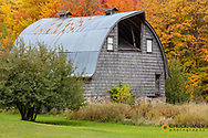 Weathered barn near Chassell in the Upper Peninsula of Michigan, USA