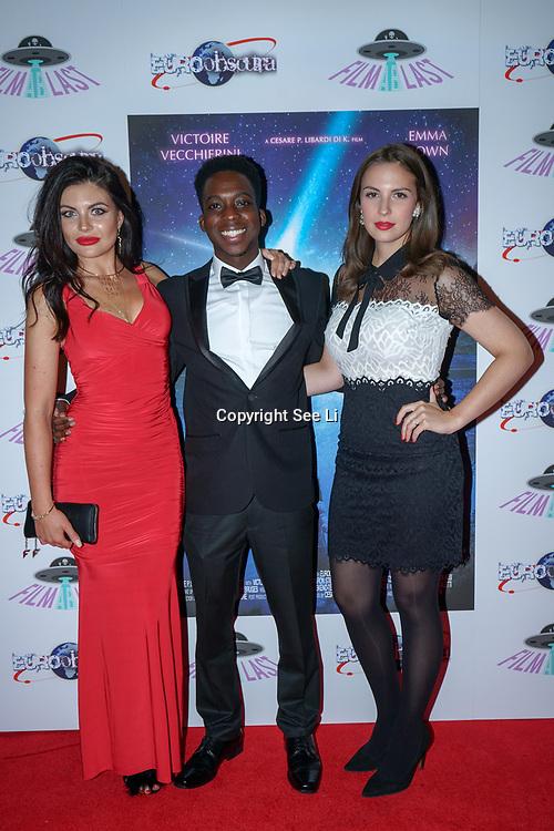 London, England, UK. 14th September 2017.Cast Joanna Leigh Hewitt,Franck Assi,Victoire Vecchierini attend the Landing Lake Film Premiere at Empire Haymarket,London, UK.